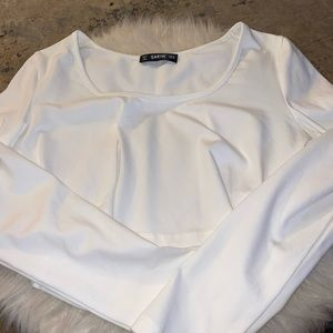 SHEIN long sleeve crop top